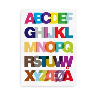 Helvetica Alfabet plakat