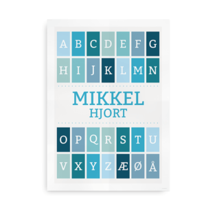 Navneplakat med alfabet dreng