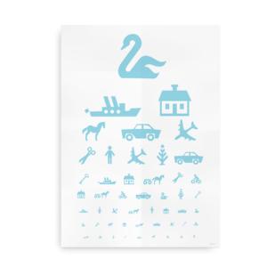Plakat med synstavle til børn