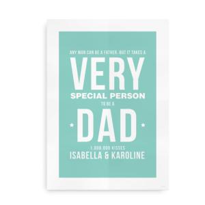 "Plakat ""Very Special Dad"" - oplagt gaveidé til Fars Dag"
