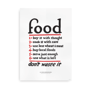 Food Don't Waste It - foodie plakat
