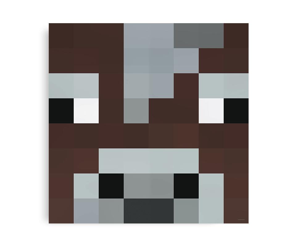 Plakat inspireret af den venlige ko fra Minecraft