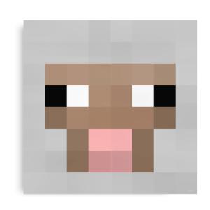 Plakat inspireret af fåret fra Minecraft