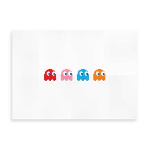 Plakat med Pacman Ghosts - Inspireret af Pacman