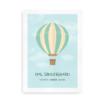 Navneplakat med luftballon til drenge