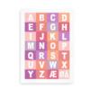 Alfabetplakat i flere farver - pige