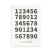 Plakat med tal og fødselsdato - hvid