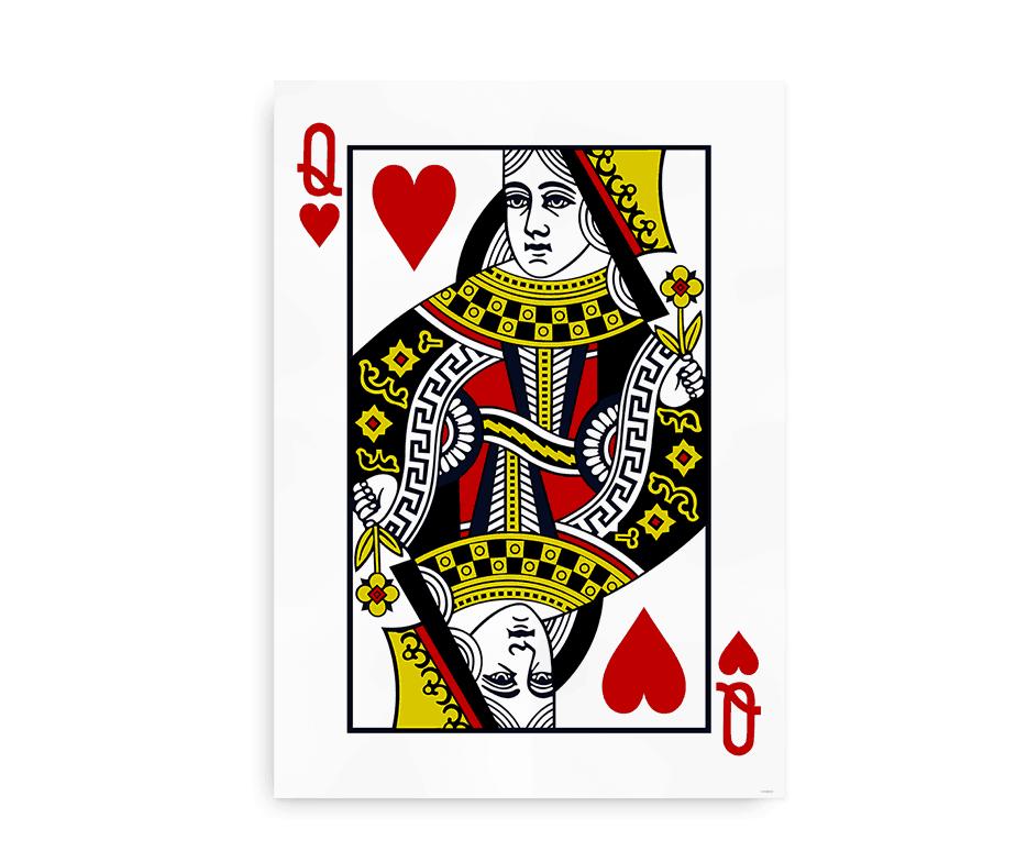 Plakat med Hjerter Dame