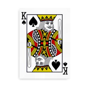 Poster med Spar Konge