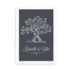 """Plakat til brudeparret - gaveidé - """"Hjertetræ"""""""