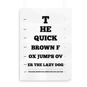 """The quick brown fox"" synstavle til designeren"