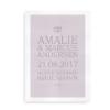 En smuk gave til brylluppet - plakat med navne, vielsesdato og -sted