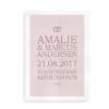 En god gaveidé til bryllup - plakat med navne, vielsesdato og -sted