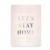 Typografisk print med sølv look til hjemmet - Let's Stay Home