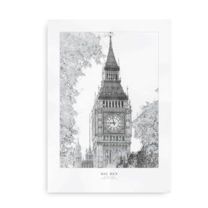 Plakat med Big Ben, London