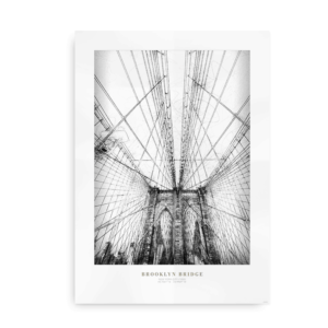 Plakat med New Yorks Brooklyn Bridge