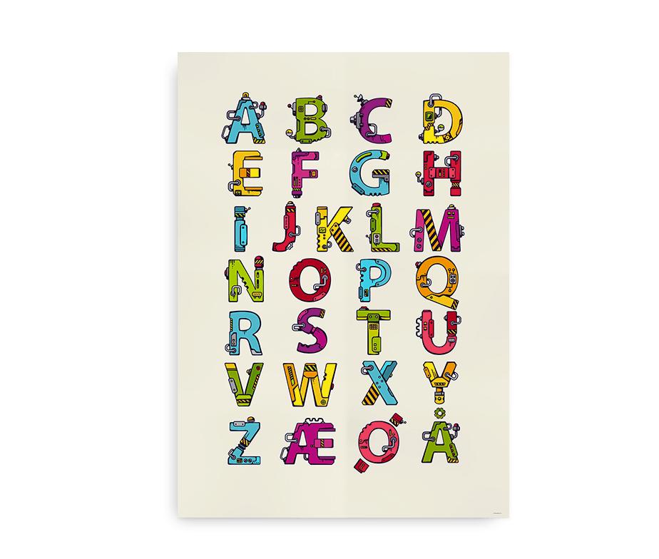 Tech abc alfabetplakat til børn