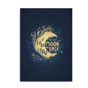 Moon Love - I love you the moon and back plakat