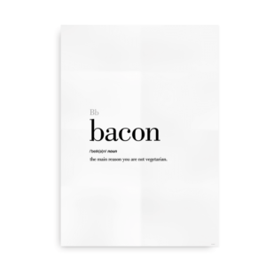 Bacon definition quote poster