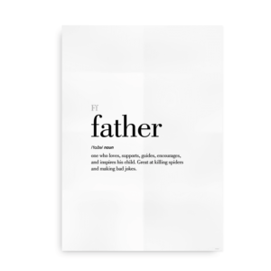 Father definition quote poster