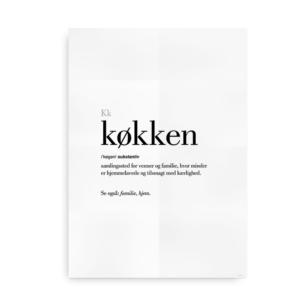 Køkken dansk definition betydning citat plakat