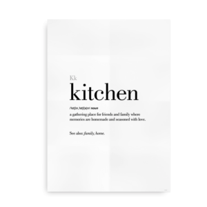 Kitchen definition quote poster