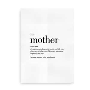 Mother definition quote poster