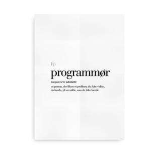 Programmør dansk definition betydning citat plakat