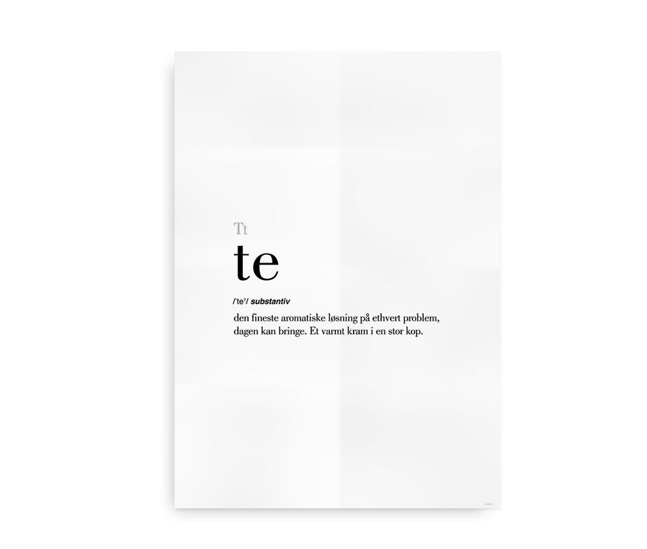 Te dansk definition betydning citat plakat