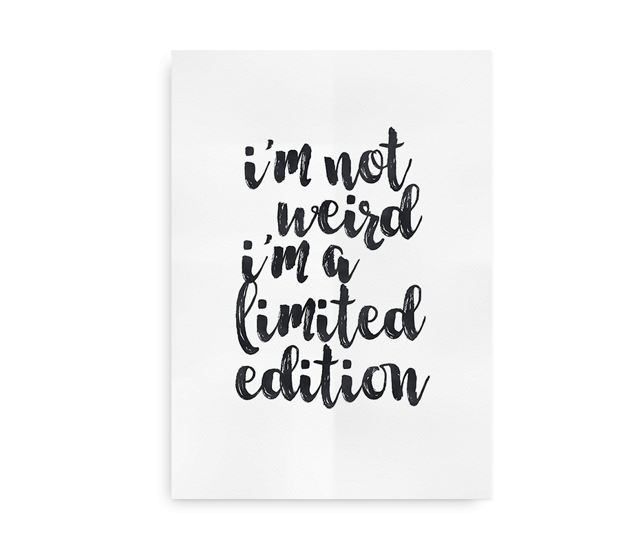 Limited Edition - citatplakat