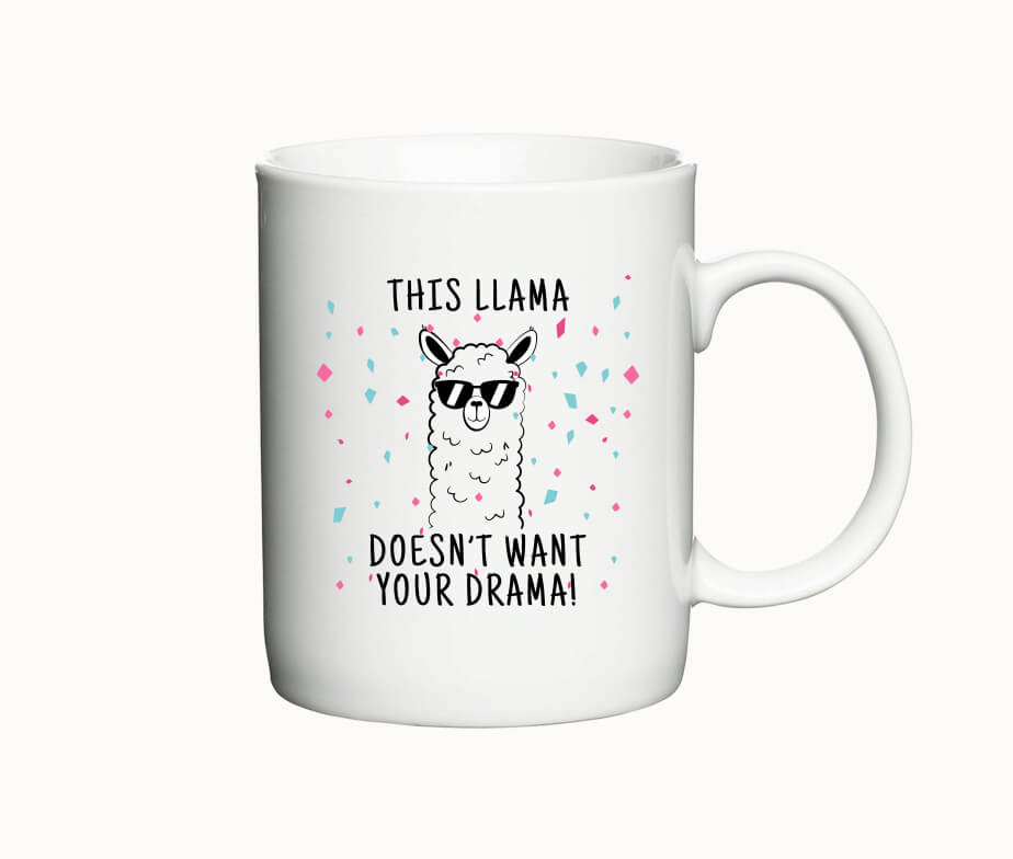 This llama doesnt want your drama - krus med lama