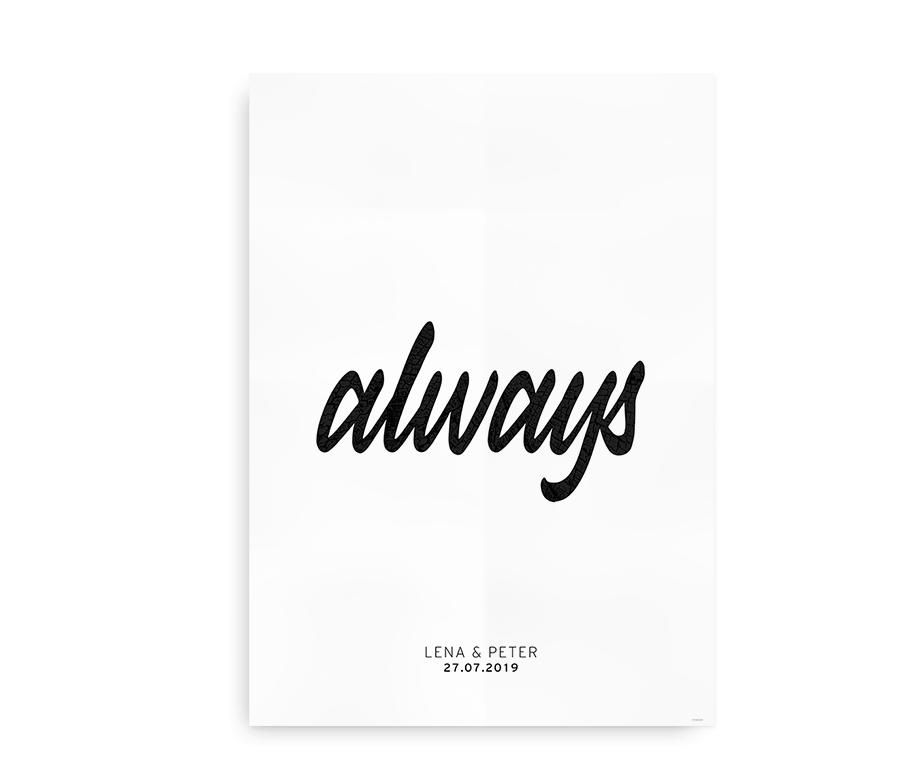 Always - bryllupsplakat