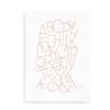 Moderne alfabetplakat - rosa