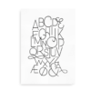 Moderne alfabetplakat - sort
