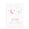 Moon and Stars- navneplakat rosa