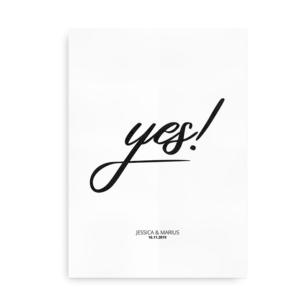 Yes - bryllupsplakat