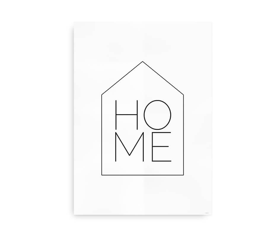 Home - familieplakat til hjemmet