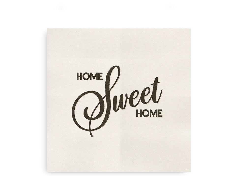 Home sweet home - kvadratisk plakat til hjemmet